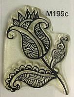 Штамп для скрапбукинга 346 Малюнок Квітка (4х2.5см) 199Mc