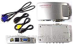 03-00-022. Конвертор VGA в AV (гнездо VGA → AV (гнездo RCA) + гнездо VGA (OUT)), с питанием