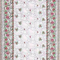 Ткань для скатерти рогожка Розы орнамент