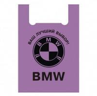 """Пакет поліетиленовий ПЕ тип майка """"BMW""""  малий 38х60 см"""