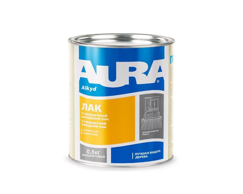 Лак алкид-уретановый AURA ПАРКЕТНЫЙ полуматовый 0,8кг