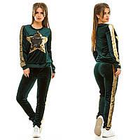 Спортивный женский бархатный костюм (цвета) АНД258, фото 1