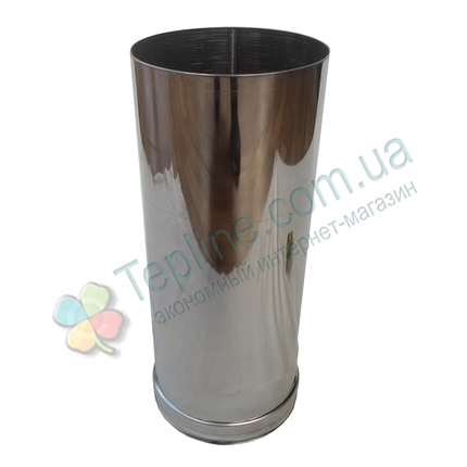 Труба для дымохода d 130 мм; 0,8 мм; 30 см из нержавейки AISI 304 - «Версия Люкс», фото 2
