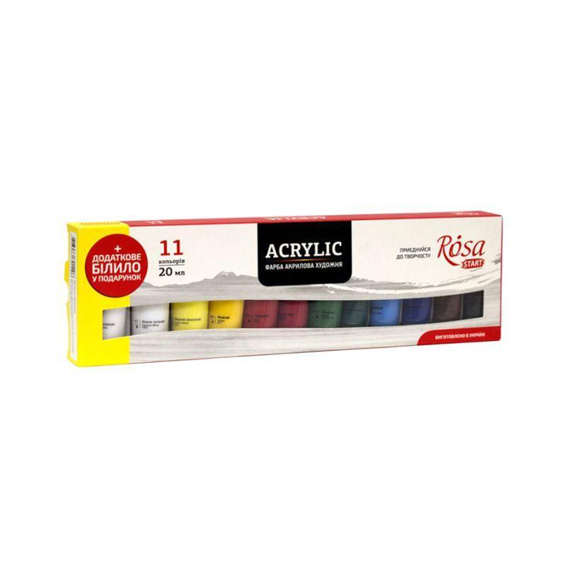 Набір акрилових фарб Rosa Studio 11 кольорів по 20 мл, 90747254