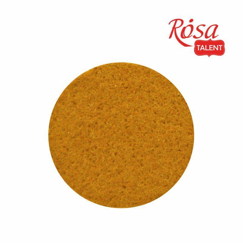 Фетр листовой (полиэстер) А4, 21*29,7 см, желтый пастельный, 180 г/м2, ROSA Talent, А4-015, 003160 - Accent-office в Житомире