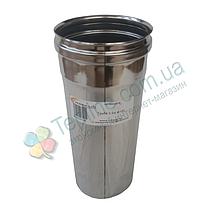 Труба для димоходу d 180 мм; 0,8 мм; 30 см із нержавіючої сталі AISI 304 - «Версія-Люкс», фото 3