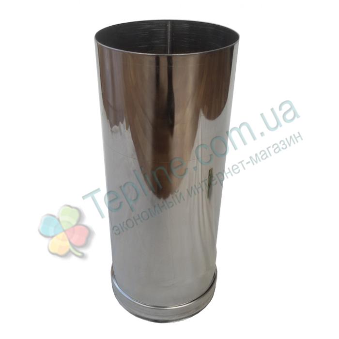 Труба для димоходу d 220 мм; 0,8 мм; 30 см із нержавіючої сталі AISI 304 - «Версія-Люкс»