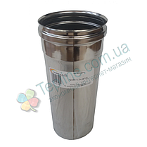 Труба для димоходу d 220 мм; 0,8 мм; 30 см із нержавіючої сталі AISI 304 - «Версія-Люкс», фото 3