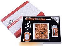 Подарочный набор ручка/брелок/зажигалка/портсигар №YJ-6334 SO