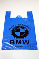 """Пакет поліетиленовий ПЕ тип майка """"BMW"""" розмір 44х71 см великий"""