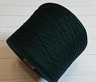Меринос с кашемиром  Linsieme Matis 92% меринос, 8% кашемир темно-зеленый изумруд