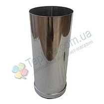 Труба для дымохода d 160 мм; 1 мм; 30 см из нержавейки AISI 304 - «Версия Люкс», фото 3