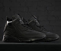 Кроссовки Nike Air Max 90 SneakerBoot Winter Triple Black мужские 44