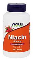 Ниацин (витамин Б3) / NOW - Niacin (Vitamin B3) 500mg (100 caps)