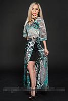 Платье шифоновое мод 432-3,размер  46-48