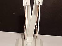 Золотые серьги с эмалью. Артикул 470159е, фото 1