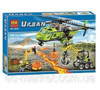 Конструктор Bela серия Urban 10640 Вулкан: вертолет для доставки (аналог Lego City 60123)
