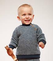Cosilana Флисовый свитер Cosilana на пуговицах арт. 46931 синий