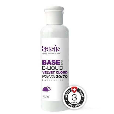 База жидкости для электронных сигарет Basis Velvet Cloud PG/VG 30/70 200 мл