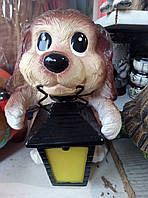 Светильник с датчиком движения к Новому году-собачка с лаем