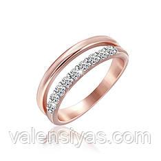 Позолоченное серебряное кольцо К3Ф/247