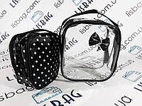 Косметичка  2в1 черная и прозрачная