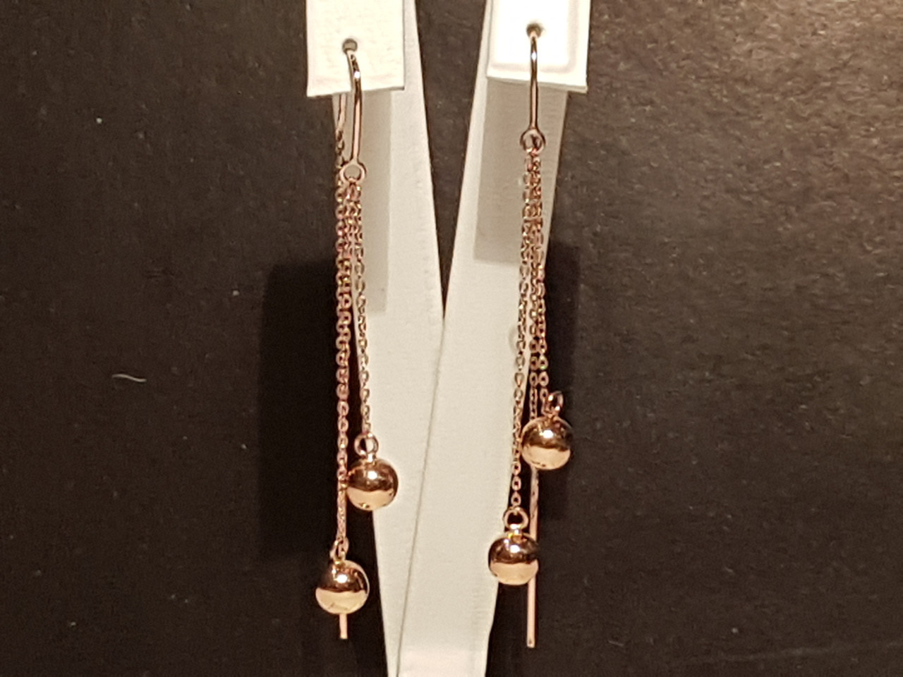 Золотые серьги-протяжки. Артикул 580057