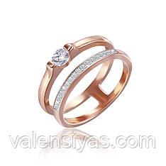 Серебряное кольцо с позолотой фианитом К3Ф/249
