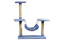 Когтеточка Юнга игровой комплекс для котов многоуровневый с гамаком джут 106 см