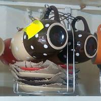 Кофейный сервиз 12 предметов, подарочный набор.