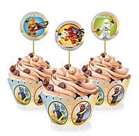 """Топперы для капкейков, десертов и кексов """"Лего Ниндзяго"""", 6 шт./уп."""