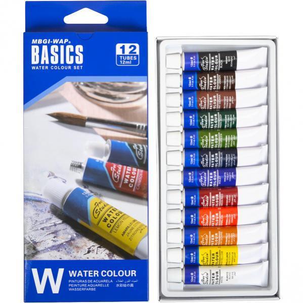 """Краски 12мл BASICS, 12 цветов """"Water"""""""