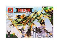 Конструктор NINJA MOVIE Механический дракон зеленого ниндзя SY918