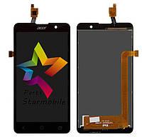 Дисплей (Модуль) для мобильного телефона Acer Liquid Z520 DualSim, черный, с сенсорным экраном