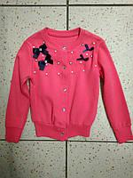 Детский модный свитер с бантиками для девочки