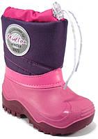 Детская зимняя обувь Renbut(Muflon)35-36 (23,5 см)фиолетовая сливка