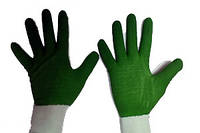 Перчатки покрытые синим нитрилом , усиленные черн .пальцы