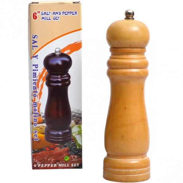 Ручная мельница деревянная 17*5*5 см