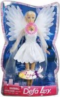 Кукла defa 8219, ангел, свет, в слюде, 33-21-7см