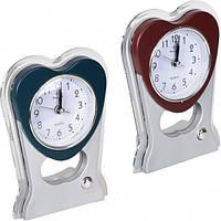 """Настольные часы - будильник """"Abstract art - сердце"""" 15*11*4 см"""