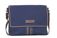 Мужская текстильная сумка VATTO MT34 синий+коричневый