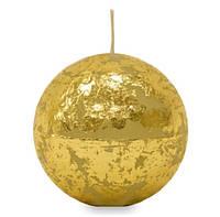 Свеча парафиновая золотой шар маленький 491