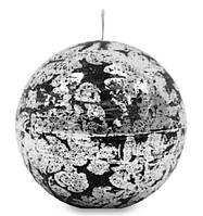 Свеча парафиновая серебро шар средний 494