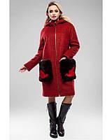 Ledi M Женское зимнее пальто RA 148 красный Леди М