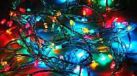 Внутренняя Новогодняя Гирлянда Нить Многоцветная на Елку 240 Лампочек Мульти