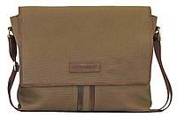 Мужская текстильная сумка VATTO MT34 хаки+коричневый