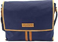 Мужская текстильная сумка VATTO MT34 синий+рыжий