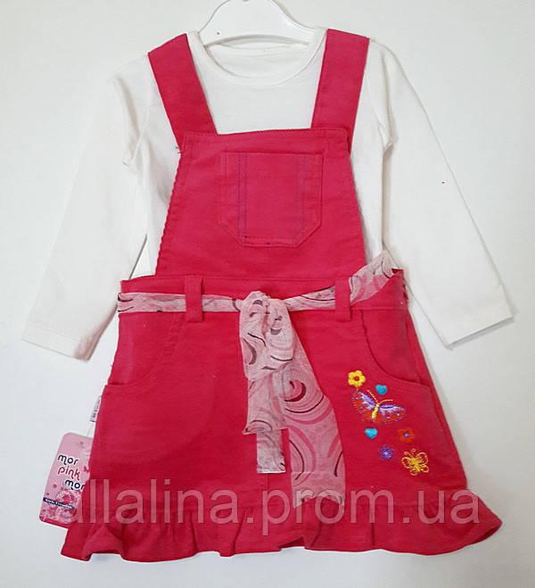 Сарафан вельветовий для дівчинки (2-4 року)