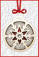 """F-096 Набор новогоднее украшение из фанеры """"Новогодняя игрушка Снежинка"""""""