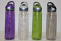 Спортивная бутылка для воды 700 мл. с трубочкой